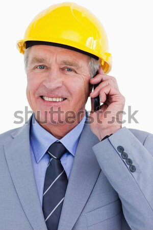 Retrato grande arame capacete de segurança Foto stock © wavebreak_media