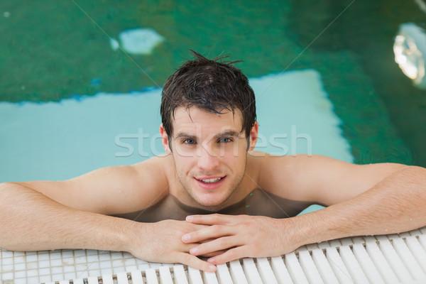 Adam havuz yakışıklı adam yüzme havuzu su Stok fotoğraf © wavebreak_media