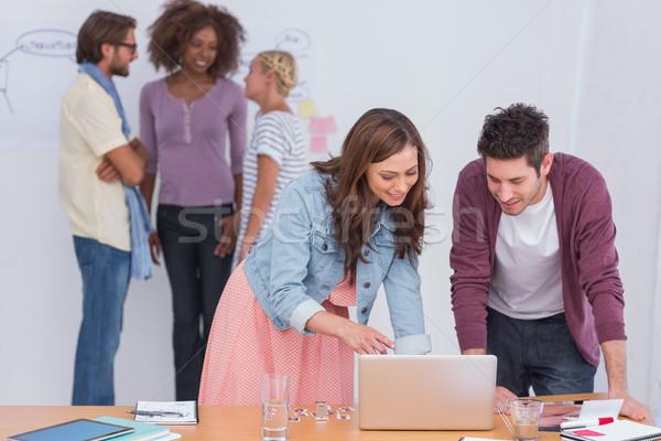 Foto stock: Trabalhando · ocupado · escritório · computador · mulher