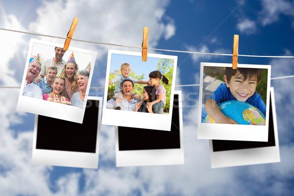 Stockfoto: Afbeelding · foto's · opknoping · lijn