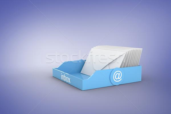 Imagen azul bandeja de entrada púrpura negocios Foto stock © wavebreak_media