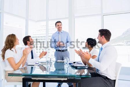 Business people in office at presentation Stock photo © wavebreak_media