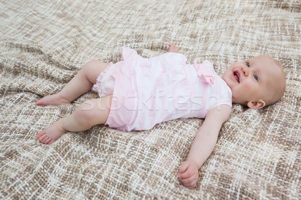 Cute baby lying on blanket Stock photo © wavebreak_media