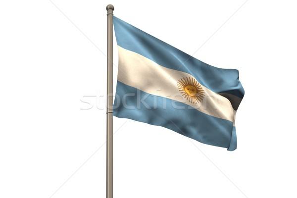 Digitally generated argentina national flag Stock photo © wavebreak_media