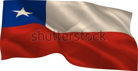 Digitalmente gerado Chile bandeira branco Foto stock © wavebreak_media