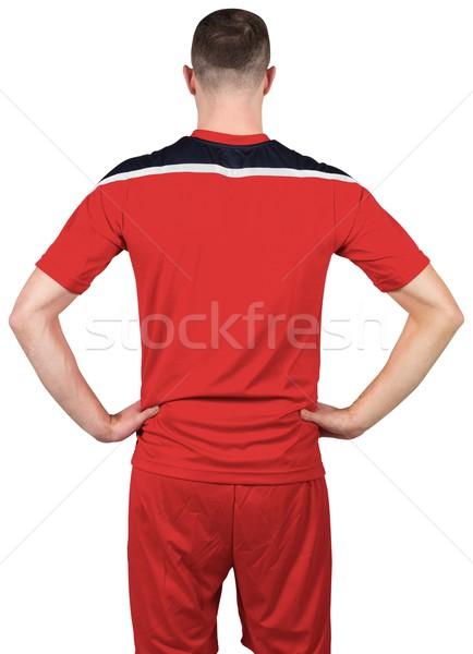 Futbolista rojo blanco fútbol fútbol Foto stock © wavebreak_media