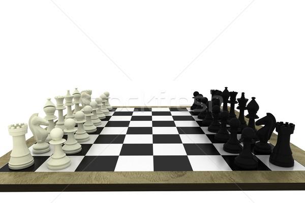 Bianco nero bordo bianco scacchi squadra Foto d'archivio © wavebreak_media