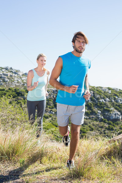 S'adapter couple jogging campagne santé Photo stock © wavebreak_media