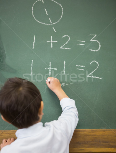 Aranyos ír matematika tábla általános iskola iskola Stock fotó © wavebreak_media