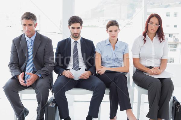 üzletemberek ül csetepaté iroda férfi megbeszélés Stock fotó © wavebreak_media