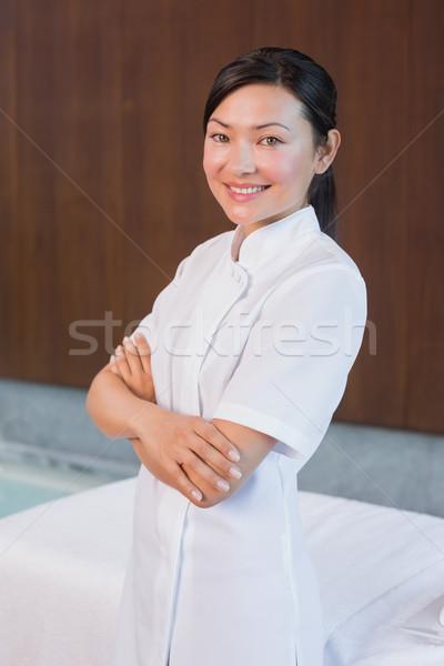 портрет женщины массажист Постоянный улыбка Сток-фото © wavebreak_media