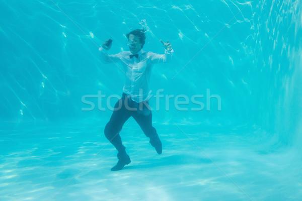 Giovane nuoto subacquea ritratto felice Foto d'archivio © wavebreak_media