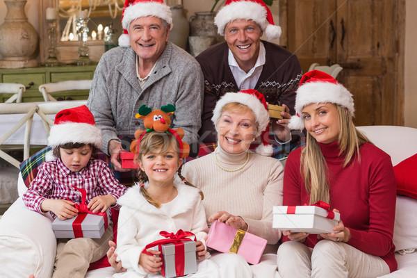 Portret gelukkig uitgebreide familie hoed Stockfoto © wavebreak_media