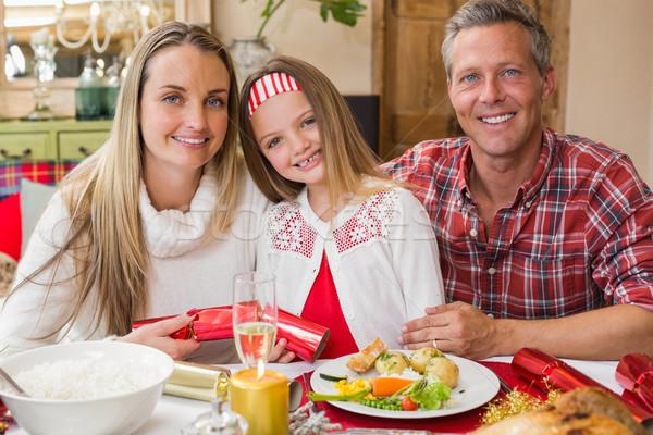 Portrait parents fille ensemble Noël temps Photo stock © wavebreak_media