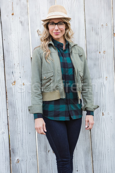 Portrait of blonde posing and looking at camera Stock photo © wavebreak_media