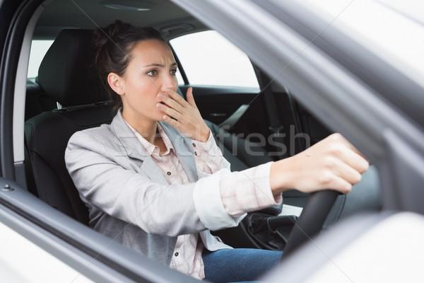 神経質な 女性実業家 車 ウィンドウ 肖像 女性 ストックフォト © wavebreak_media