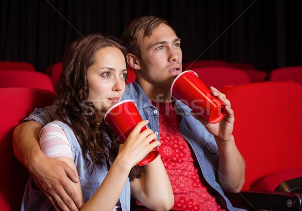 Kijken film bioscoop vrouw gelukkig Stockfoto © wavebreak_media