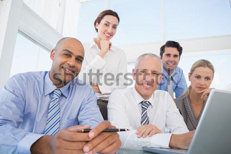Zakenman toekomst kantoor vrouw Stockfoto © wavebreak_media