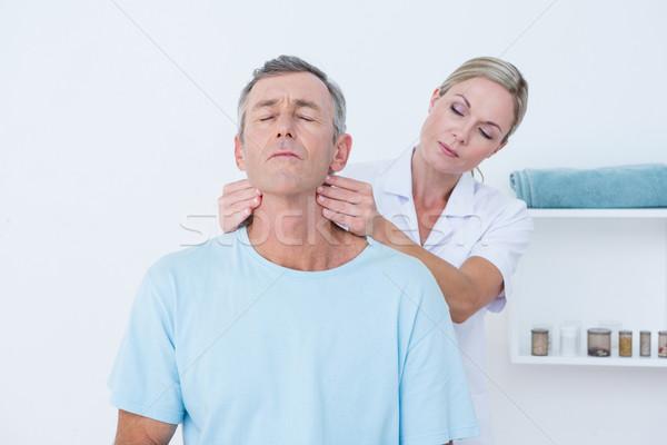 ストックフォト: 医師 · 首 · 医療 · オフィス · 女性