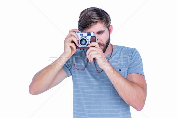 Mutlu yakışıklı adam resimleri beyaz adam Stok fotoğraf © wavebreak_media