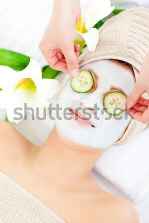 Chiodo tecnico cliente manicure salone di bellezza donna Foto d'archivio © wavebreak_media
