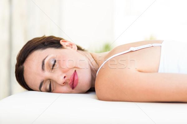 Calm woman lying on massage table Stock photo © wavebreak_media