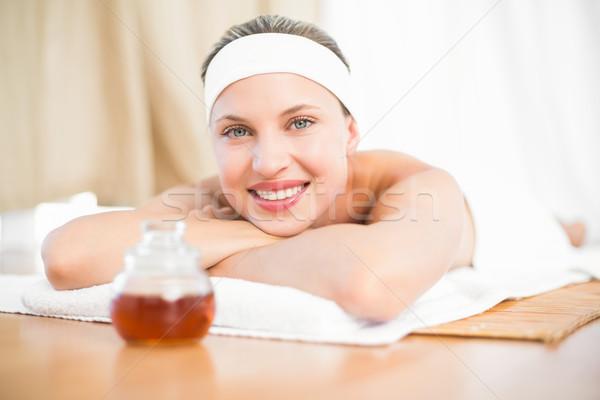 woman next to the wax  Stock photo © wavebreak_media