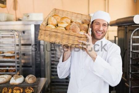 Бейкер корзины хлеб кухне хлебобулочные Сток-фото © wavebreak_media