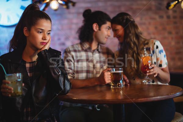 Verärgert Frau zärtlich Paar Veröffentlichung Party Stock foto © wavebreak_media