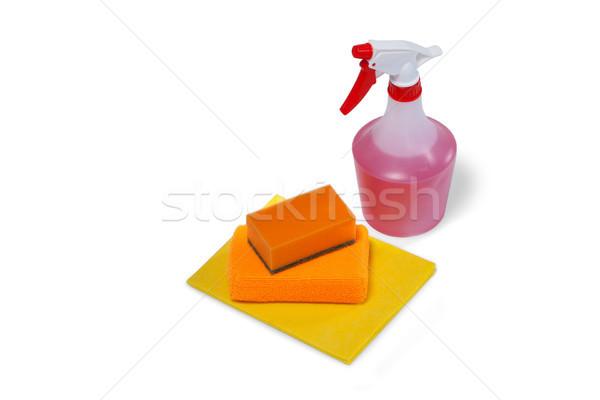 Spray üveg fehér közelkép otthon fitnessz Stock fotó © wavebreak_media