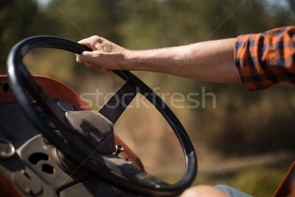 Homem condução trator oliva fazenda Foto stock © wavebreak_media
