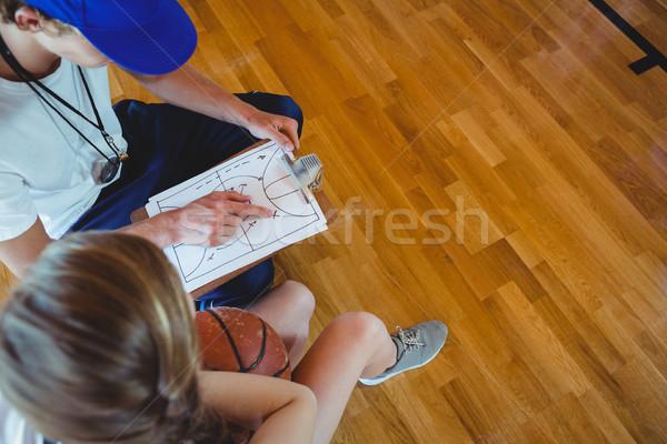 Maschio coach diagramma femminile Foto d'archivio © wavebreak_media
