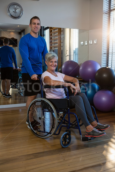 Kıdemli kadın tekerlekli sandalye klinik portre uygunluk Stok fotoğraf © wavebreak_media