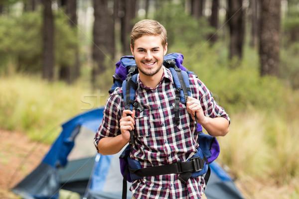 Portrait of a young handsome hiker Stock photo © wavebreak_media