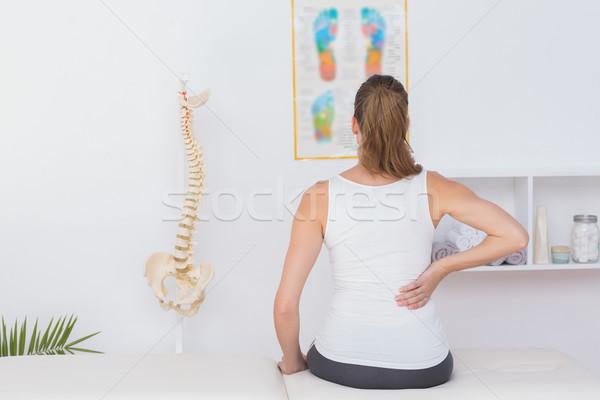 Visel kilátás beteg hátfájás orvosi iroda Stock fotó © wavebreak_media