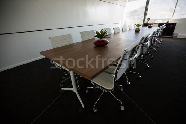 Conferencia mesa vacío vista Foto stock © wavebreak_media