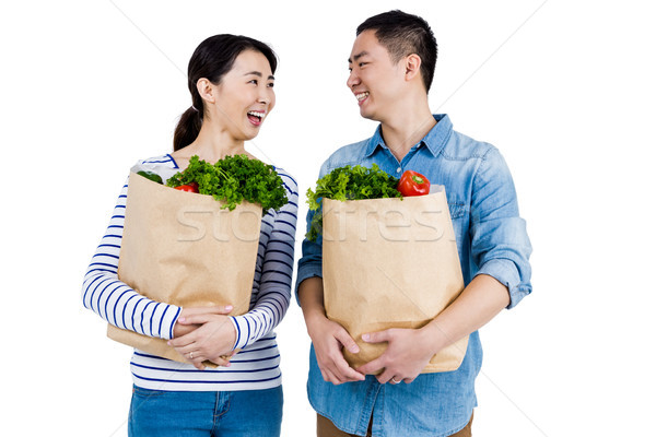 カップル 見える その他 食料品 袋 ストックフォト © wavebreak_media