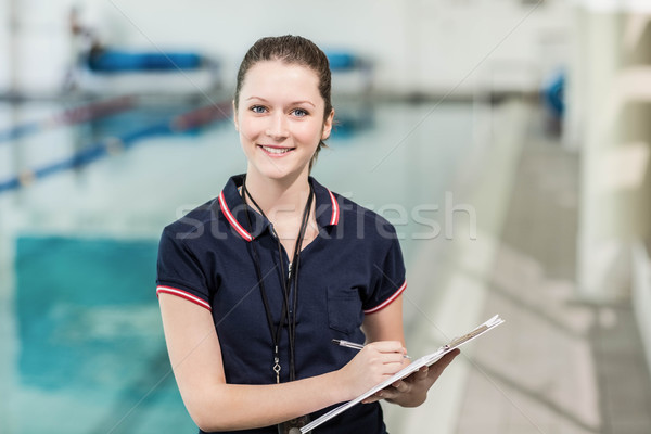 Güzel yazı havuz kadın Stok fotoğraf © wavebreak_media
