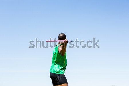 Athlete about to throw a javelin Stock photo © wavebreak_media