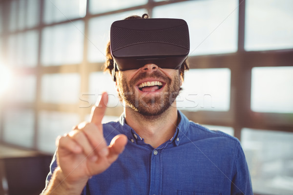 Male business executive using virtual reality headset  Stock photo © wavebreak_media