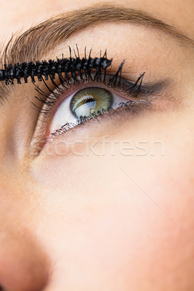 Bella donna mascara ciglia primo piano donna Foto d'archivio © wavebreak_media