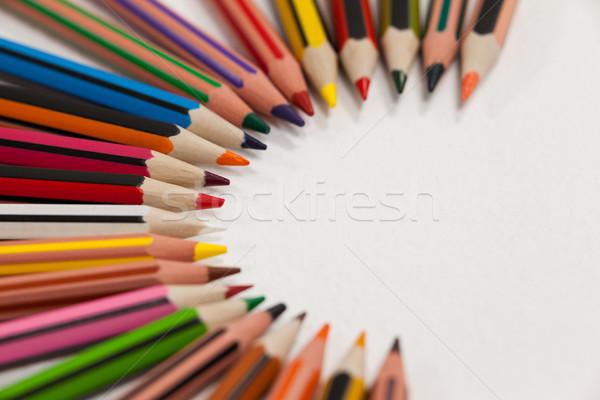 Crayons art éducation écran communication Photo stock © wavebreak_media