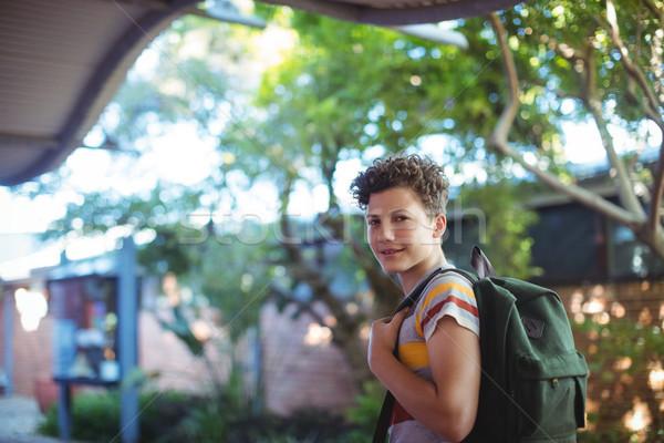 幸せ 男子生徒 立って 学校 キャンパス 肖像 ストックフォト © wavebreak_media