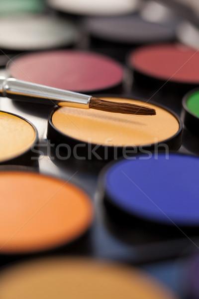 Pennello palette primo piano laptop arte nero Foto d'archivio © wavebreak_media