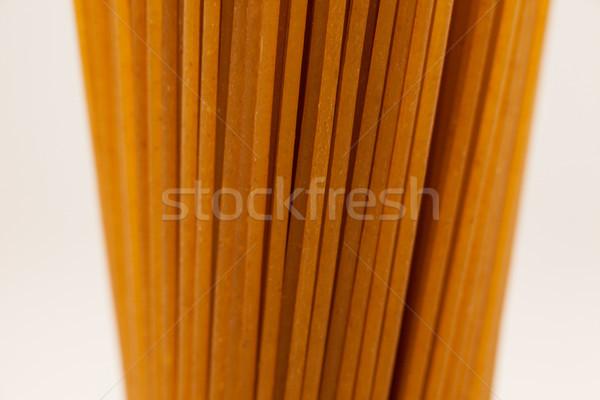 Spaghetti pasta witte tabel patroon lunch Stockfoto © wavebreak_media