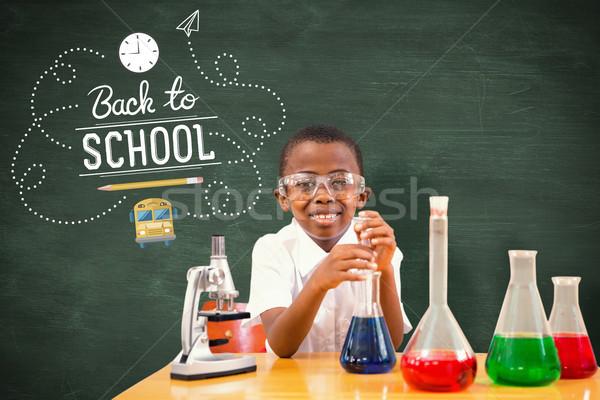 Afbeelding cute spelen wetenschapper school Stockfoto © wavebreak_media