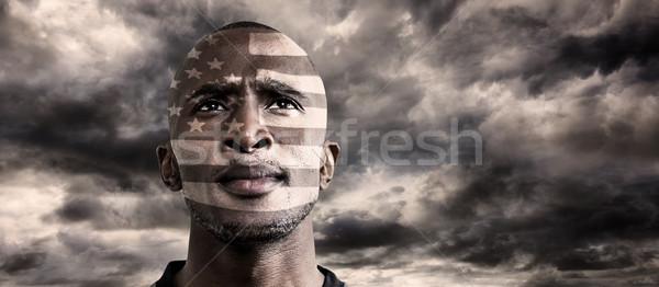 Imagen EUA rugby jugador cielo azul Foto stock © wavebreak_media