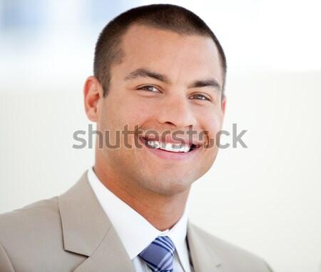 Portré karizmatikus üzletember izolált fehér űr Stock fotó © wavebreak_media