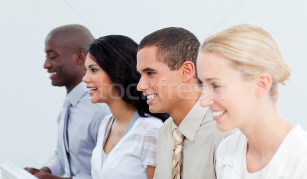 Bemutató multikulturális üzleti csapat munka iroda üzletember Stock fotó © wavebreak_media