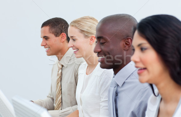 Multi-cultural business team working in the office Stock photo © wavebreak_media